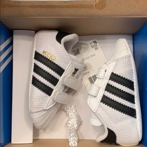 Infant adidas superstar sneakers size 1